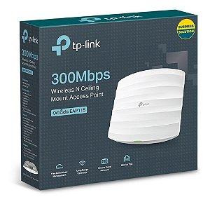 Roteador de Teto TP-Link EAP115 300MBPS Wir N Gigabit Cei