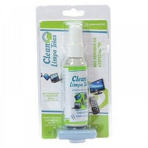 Clean Limpa Telas Com Flanela Implastec 60ml