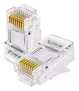 Plug Conector Modular RJ-45 8 Vias Cat5