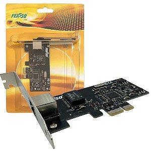 Placa De Rede Pci-e Express Lan Ethernet 100/1000 Gigabyte - Feasso
