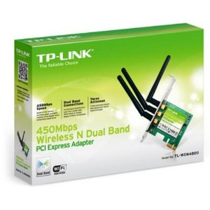 Placa de Rede Wireless PCI-E Dual Band N900 TL-WDN4800 TP-Link