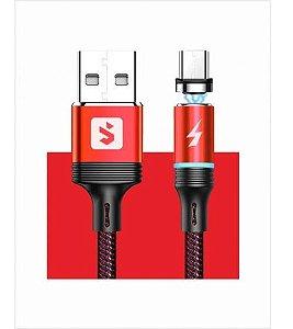 Cabo Magnetico Para Carregamento USB Vermelho Sumexr SX-B16V8