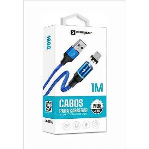 Cabo Magnetico Para Carregamento USB Azul Sumexr SX-B16V8
