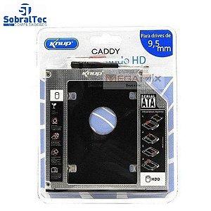Gaveta Caddy Adaptador Para Segundo HD de Notebook ou Ssd 9.5mm Knup KP-HD010