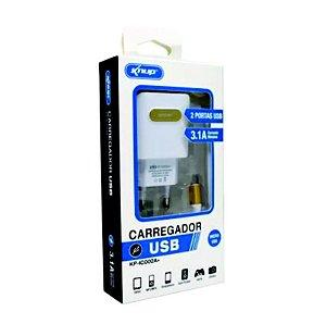 Carregador de Celular + Micro USB (V8) 3.1A KP-IC005A+ - Knup