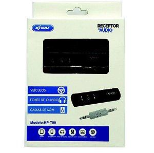 Receptor De Áudio Bluetooth Para Som E Fone Auxiliar Kp-t99
