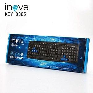 Teclado USB Inova Preto Com Teclas Azuis Key-8385