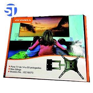 Suporte Tv Articulado 14 A 55 Polegadas Até 50kg Universal Ecooda EC 10073
