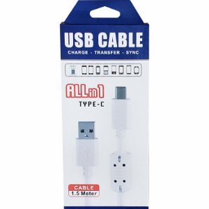 Cabo Usb x Micro Usb Celular Tipo C |1,5 Mt | KS-U306 -Type-C Allin1