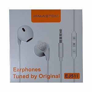 Fone De Ouvido H'maston EJ511 Earphones Sincronizado Original