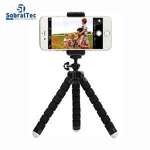 Mini Tripe Flexivel Para Celular e Camera Com Suporte