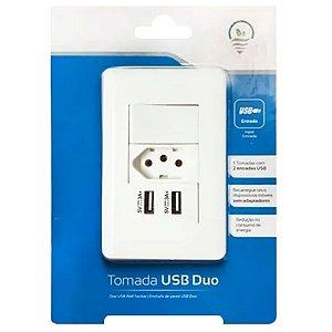 Tomada Interruptor e Carregador Usb Duo de Parede - Ys-002
