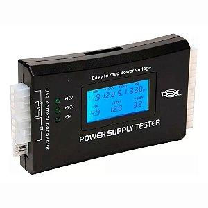 Testador De Fonte Power Supply Tester IV Com Tela LCD 20/24 Pinos Atx
