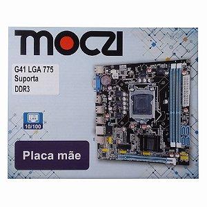 Placa Mãe Moczi Micro Atx G41D3LM Socket 775 DDR3 Lan 10/100 AMI bios