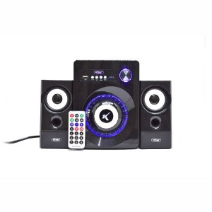 Amplificador De Som Subwoofer 2.1 Bluetooth Knup Kp-6022BH 16W De Potência