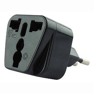 Adaptador de Tomada Elétrica Brasil Soquete Conversor EUA UK AU A UE Plug