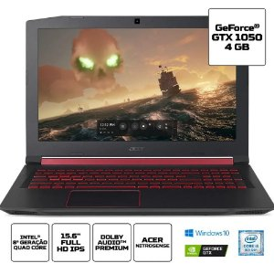 "Notebook Gamer Acer AN515-52-52BW 8ª Intel Core i5 8GB (Geforce GTX1050 com 4GB) 1TB 15,6"" W10"