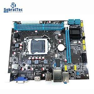 Placa Mãe Moczi Micro Atx H61 Socket 1155 DDR3 Lan 10/100 AMI bios