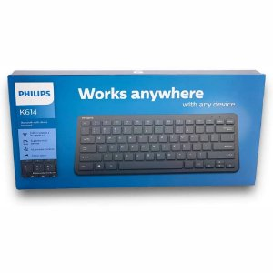 Teclado Wireless 2.4Ghz Bluetooth 4.0 Suporta Vários Dispositivos Philips k614