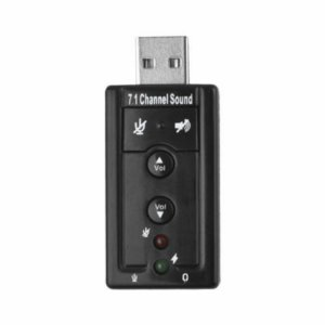 Placa De Som Usb Externa 7.1 Virtual Channel Sound Para Pc e Notebook
