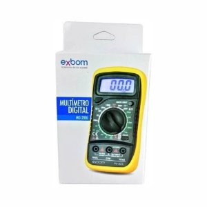 Multímetro Profissional Digital Lcd Capacímetro Aviso Sonoro Exbom MD-200L