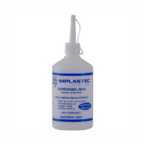 Álcool Isopropílico 99,8% Isopropanol Garrafa 250m Implastec
