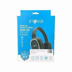Fone De Ouvido Estéreo Sem Fio Microfone Embutido Entrada SD Inova FON-6702