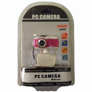 Webcam Pc Camera Usb 2.0 Com Clip Microfone Integrado 15 Megapixels 428