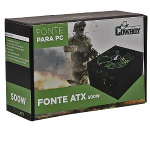 Fonte Atx Potencia Real Para PC 500W Cowboy Silenciosa 20+4p Knup KP-534