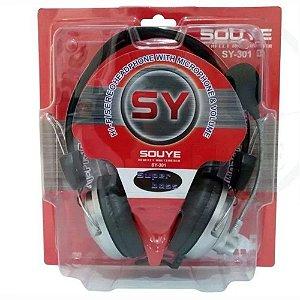 Headset super bass SY-301 Souye Com Microfone