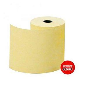 Bobina Termica Amarela 80mm x 40m 1 Via