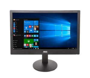 "Monitor Led 15,6"" Widescreen Vga Preto AOC E1670swu-e"