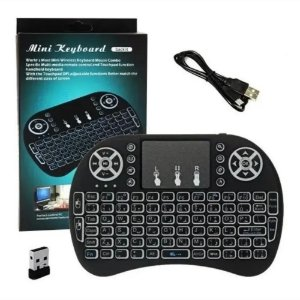 Mini Teclado Wireless Iluminado Com Mouse Touchpad Ps3 Tv Box Smartphones Pc