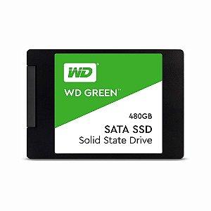 HD SSD WD Green 480GB SATA Leitura 545MB/s Gravação 430MB/s WDS480G2G0A