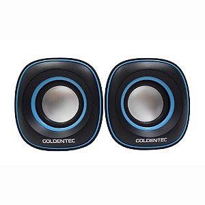 Caixa De Som 6.0W RMS 60 dB GT Sound 2.0 Goldentec 26365