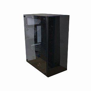 Gabinete Gamer SobralTec Preto Com Lateral e Frontal Em Vidro - GA177  Sem Fonte