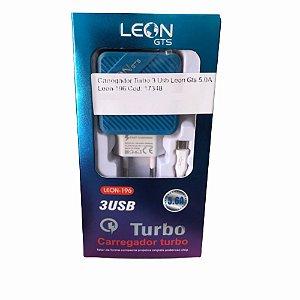 Carregador Turbo 3 Usb Leon Gts 5.0A Leon-196