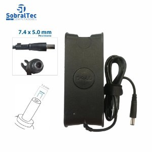 Fonte Carregador Para Notebook Dell 19,5V 4,62A 90W 7.4 x 5.0mm PA-10