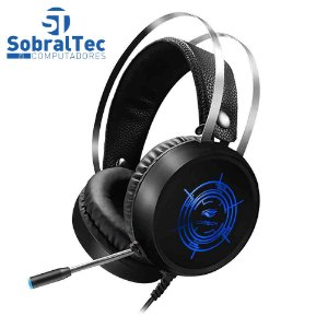Headphone Gamer Com Microfone  Usb Harrier Led Multicores C3Tech PH-G330BK