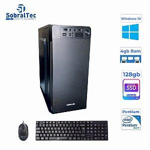 Computador Pentium® Dual Core G2030  HD SSD 128GB Memória Ram 4GB Gabi C3Tec Teclado e Mouse