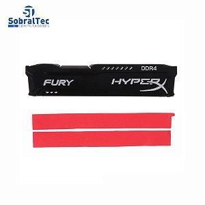 Dissipador De Memória Ram Ddr3 Ddr4 Para Desktop Thermal Pads HyperX Fury