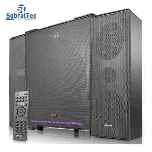 Home Theater Subwoofer Mini System 2.1 90w Bluetooth Usb SDCard RCA Knup KP-6027BH