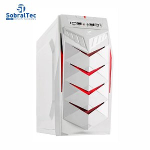 Gabinete Gamer Atx Mid Tower Branco Sem Fonte C3tech Mt-g70wh