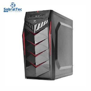 Gabinete Gamer C3tech Preto Led Vermelho Midtower Atx Usb 2.0 Mt-g70bk