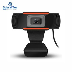 Webcam Full HD 1080 Pixels USB 2.0 Com Microfone Embutido Plug And Play