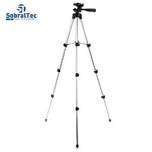 Suporte Tripé Portátil De Alumínio 1,30Mt Celular Câmera Com Suporte Para Celular e Capa Tripod 3110