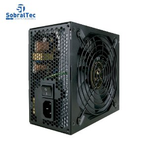 Fonte De Potência Real ATX 500W PFC Ativo PS-G500B 80+ BRONZE Gaming Series C3Tech