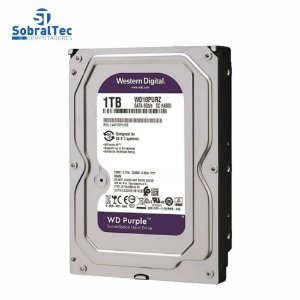 HD Interno Western Digital 1TB 3.5 SATA 6Gb/s 5400RPM WD Purple Para DVR WD10PURZ