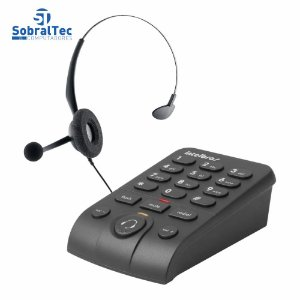Telefone Intelbras Headset Base Discadora Hsb50 Preto