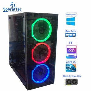 Computador Gamer i5- 3340 | 3.10Ghz- HD SSD 1TB- Memória 8GB- Placa Video 4GB 256Bits